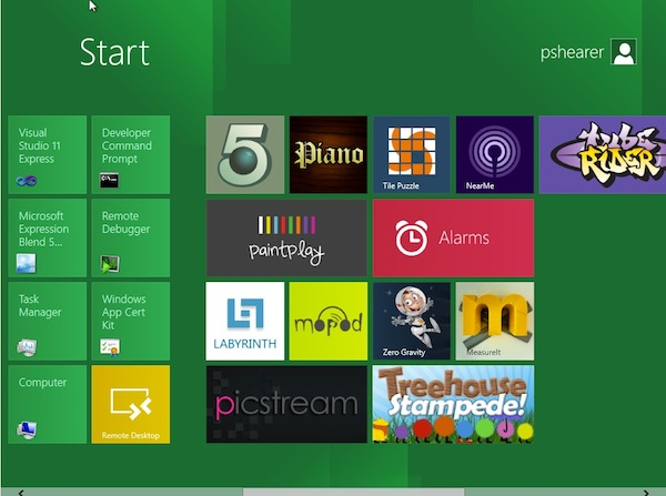 Windows 8 Metro UI continued