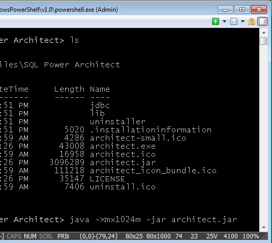 Sql Power Architect With Xmx Switch
