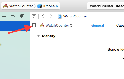 Show Target Drawer in XCode