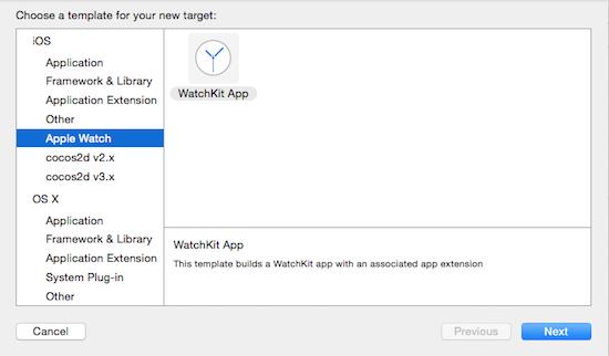 WatchKit Target