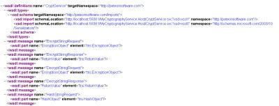 CryptService WSDL