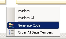 Generate Data Contract Code
