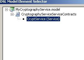 DSL Model Element Selector