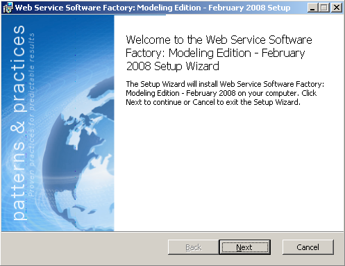 Web Services Software Factory (1 of 5)